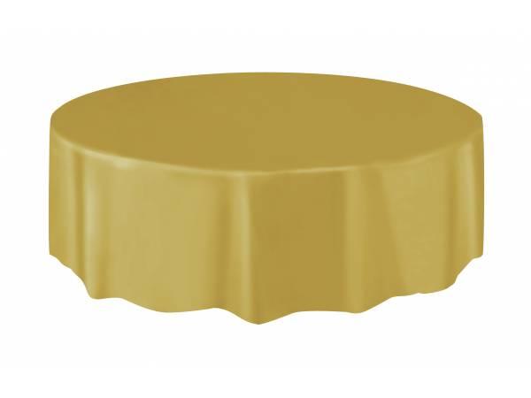 nappe ronde en plastique or mat thema deco. Black Bedroom Furniture Sets. Home Design Ideas