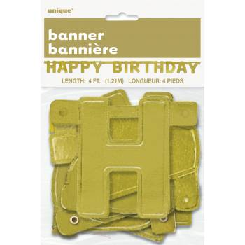Banderole Happy Birthday or