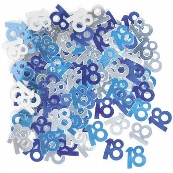 Confettis metallic 18 ans Bleu