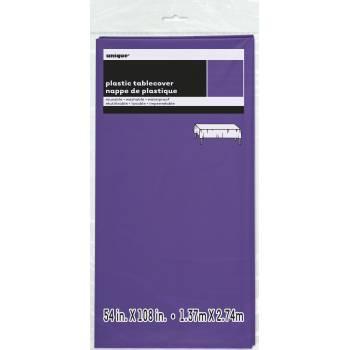Nappe en plastique fluo violette
