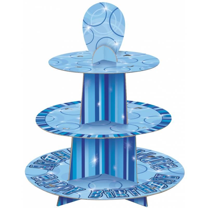 pr sentoir a gateaux blue personnalisable thema deco. Black Bedroom Furniture Sets. Home Design Ideas