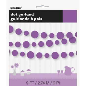 Guirlande de cercles papier violette