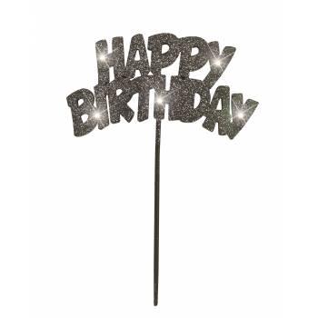 Décor lumineux Happy Birthday noir