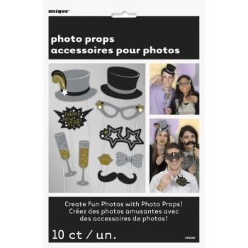 10 Accessoires photobooth Jour de l'an