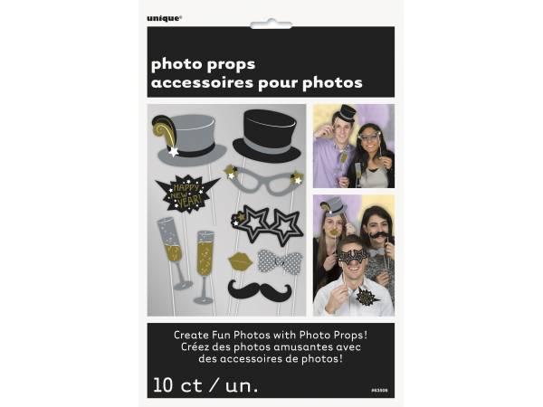 10 accessoires photobooth jour de l 39 an thema deco. Black Bedroom Furniture Sets. Home Design Ideas