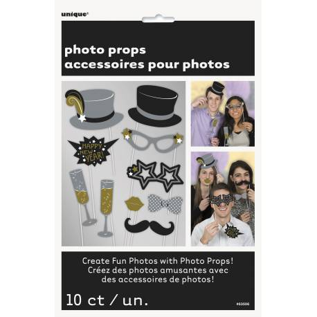 10 accessoires photobooth jour de l 39 an thema deco. Black Bedroom Furniture Sets. Home Design Ideas