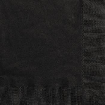 20 Serviettes papier noire