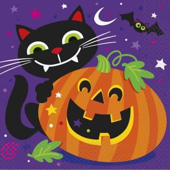16 Serviettes Petits monstres Halloween