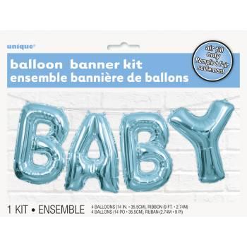 Ballon alu Baby bleu