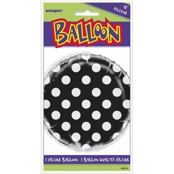 Ballon hélium noir à pois