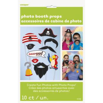 Kit 10 Accessoires Photobooth Couleurs Happy Birthday