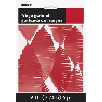 Guirlande frange en papier rouge