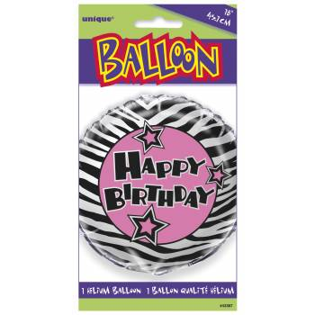 Ballon alu zebra passion