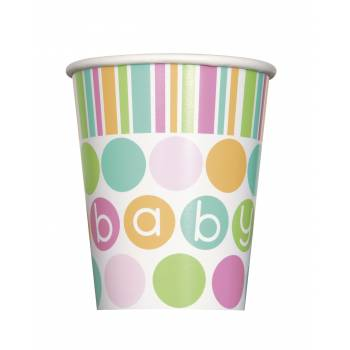 8 gobelets Baby pastel