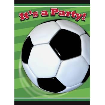 8 cartes invitations Football club