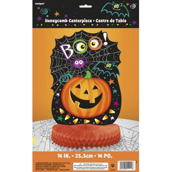Centre de table halloween citrouille BOO !