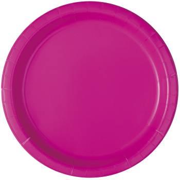 20 Assiettes dessert fluo rose
