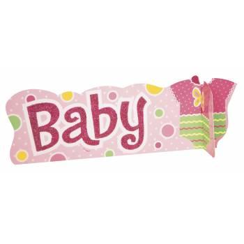 Centre de table Baby rose pailleté