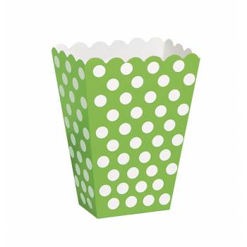 8 Boîtes Pop Corn pois vert