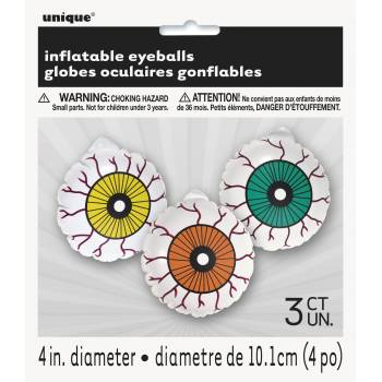 3 Globes oculaires gonflable