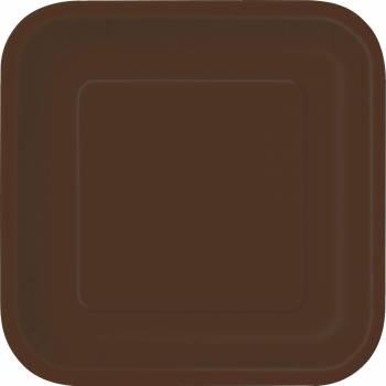 14 Assiettes carrée chocolat