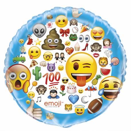 Ballon Géant Emoji en aluminium pour la décoration de vos anniversaires. Ce ballon peux être gonflé avec ou sans hélium à l'aide d'une...