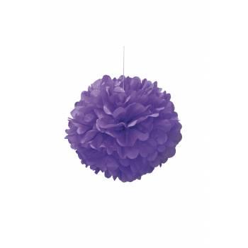 Suspension froufrou papier fluo violette