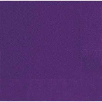 20 serviettes violette foncée