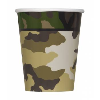 8 Gobelets Camouflage