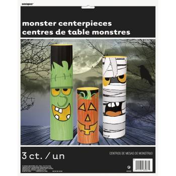 3 Centre de table monstres cylindrique