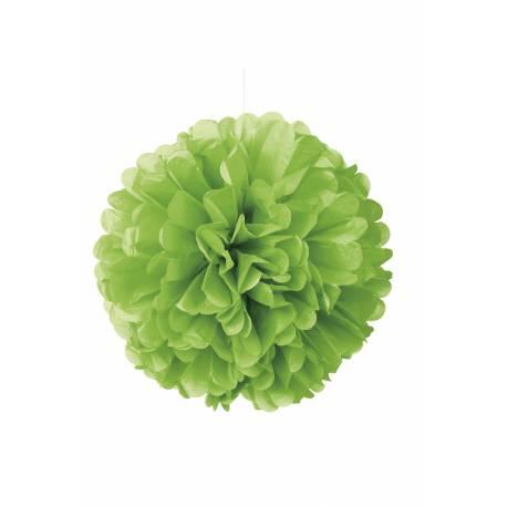 Suspension boule de papier froufrou fluo vertØ 40 cm