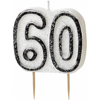 Bougie 60 ans black/white