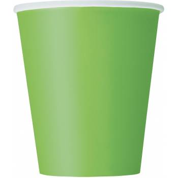 14 Gobelets carton vert lime