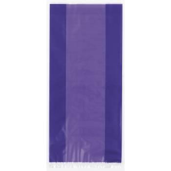 30 sachets cello violet 28cm