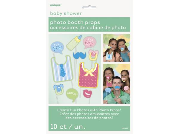 10 accessoires photobooth baby shower thema deco. Black Bedroom Furniture Sets. Home Design Ideas