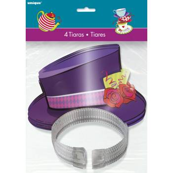 4 Tiares chapeau Tea party crazy