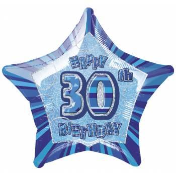 Ballon Star Bleu 30 ans