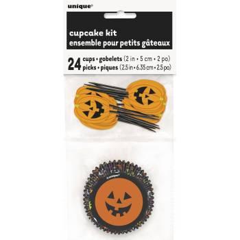 Kit 24 cupcakes halloween Jack o' lanterne