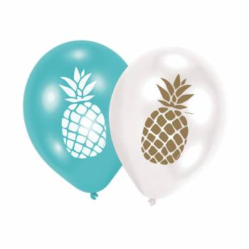 6 ballons ananas