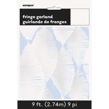 Guirlande frange blanche
