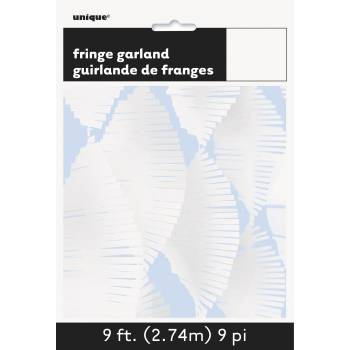 Guirlande frange en papier blanche