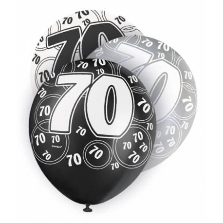 Assortiment de 6 ballons en latex Ø 30 cm Parfait pour la deco de votre fête ou anniversaire.