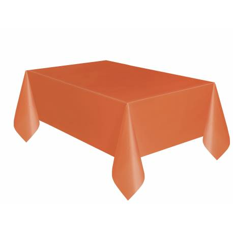 deco table halloween nappe rectangle orange plastique. Black Bedroom Furniture Sets. Home Design Ideas