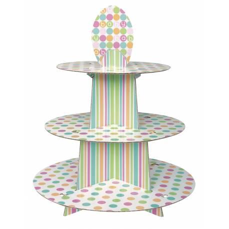Stand prévu pour 24 cupcakes de taille standard Dimensions: 30 cm x 35 cm