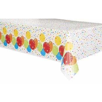 Nappe en plastique Ballons confettis