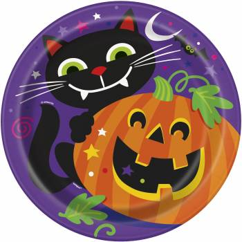 8 Assiettes Petits monstres Halloween