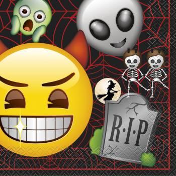 16 Serviettes en papier emoji halloween