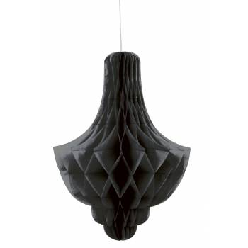 Suspension chandelier papier noire