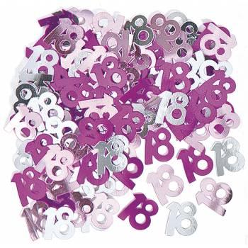 Confettis metallic 18 ans Pink
