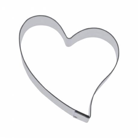 Emporte pièce coeur pour créer vos deco de gâteau en pâte à sucre ou vos biscuits. Dimensions: 5.5 cm
